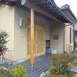 玄関ポーチみがき柱交換、再塗装、雨樋交換、軒裏貼替え