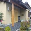 富山市ーS邸 玄関ポーチみがき柱交換 再塗装 雨樋交換 軒裏工事